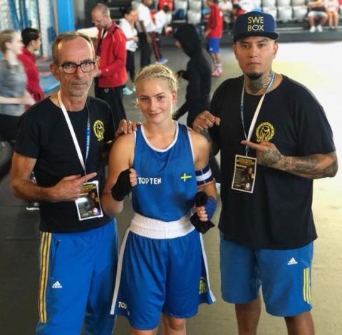 Thelma, en lovande talang inom boxning, fortsätter att boxas trots sin typ 1-diabetes