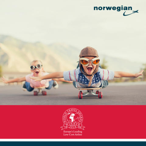 Norwegian es elegida 'Aerolínea de bajo coste líder en Europa 2018' en los World Travel Awards