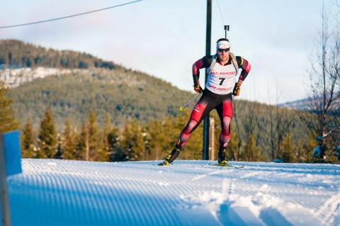 Østerrikske skiskyttere trener i Trysil.