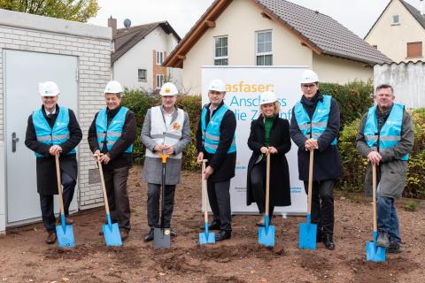 Spatenstich in Eppertshausen: ENTEGA und Deutsche Glasfaser verkünden Baustart des Glasfasernetzes