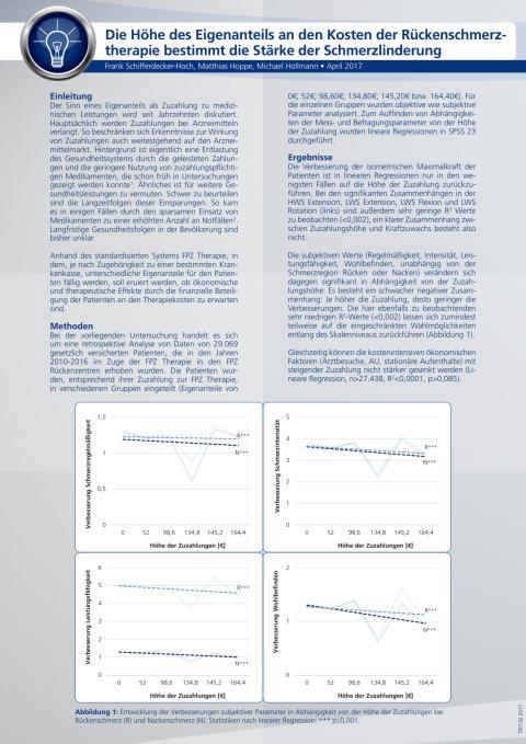 """Handout zur wissenschaftlichen Kurzmitteilung """"Eigenanteil FPZ Therapie"""""""