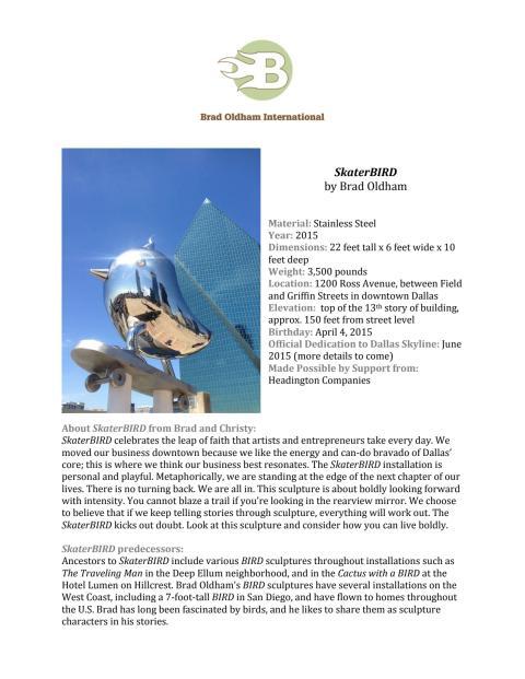 Fact sheet - SKATERbird