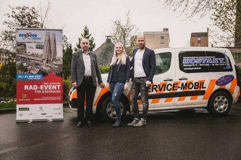 Jörg Keim (Vorstand Finanzen WBG Kontakt), Mandy Immisch (Marketing WBG Kontakt), Ronny Winkler (Organisationsleiter neuseenclassics)