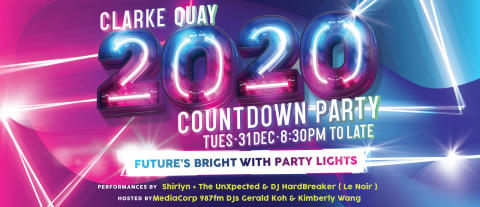 Do a Double Take at Clarke Quay's 2020 Countdown Party