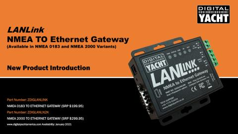 Digital Yacht America Launches LANLink NMEA to Ethernet Gateway