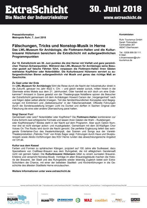 ExtraSchicht 2018 - PM Herne