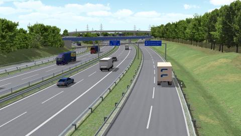 Großeinsatz für STRABAG AG beim Neubau der BAB 26 West in Norddeutschland