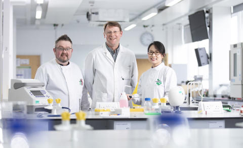 Northumbria University academics from left to right: Dr Darren Smith, Professor Gary Black, Dr Meng Zhang