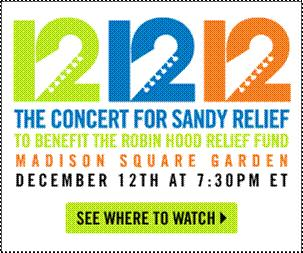 """Shazam the """"12-12-12 Concert for Sandy Relief"""" to Donate and Make a Difference"""