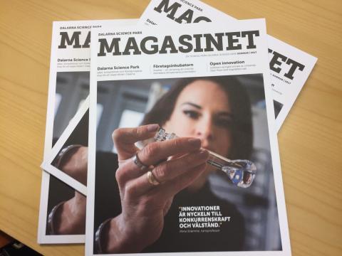 Läs om affärsutveckling, innovationer och intressanta dalaföretag - magasin #1 2016 från Dalarna Science Park