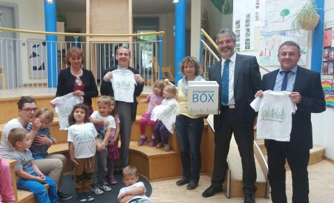 Neuer Erlebnispfad für die Kinder des Kindergarten St. Anna in Freyung
