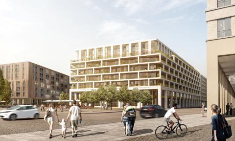 CG Gruppe baut VauVau Dresden mit den Generalunternehmern ZÜBLIN und Wolff & Müller