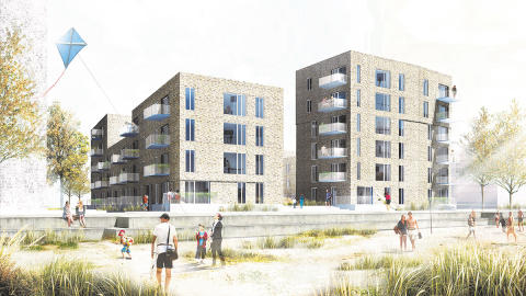 Arkitektgruppen sælger nyt spændende boligbyggeri i Køge til Dades