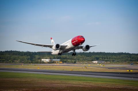 Norwegian fortsetter den internasjonale veksten med en passasjerøkning på 14 prosent i oktober