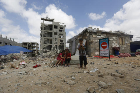 Barnen i Gazaremsan psykiskt stressade