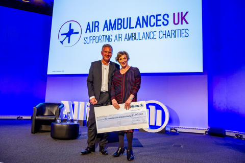 Allianz beats £1million charity target for Air Ambulances UK
