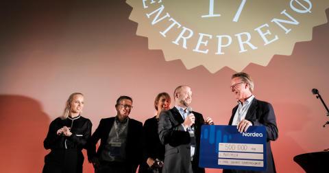 Motitech stakk av med seieren i konkurransen Årets Sosiale Entreprenør 2017. Foto: Kristian Harby