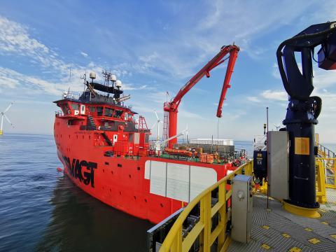 ESVAGT DANA i Baltic 2 offshore vindpark - 2020