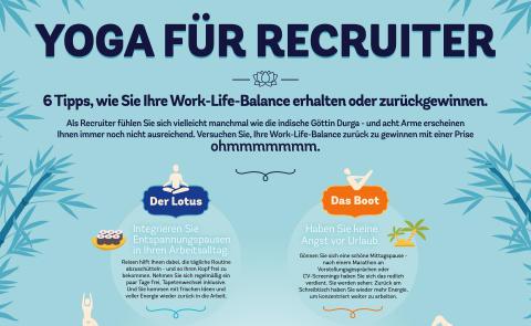Infografik zum Welt-Yoga-Tag: Entspannt und gelassen zu mehr Work-Life-Balance