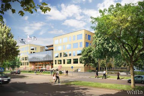 Framtidens Akademiska - Den nya vård- och behandlingsbyggnaden från Dag Hammarskjöldsväg