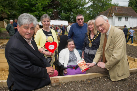 Rt Hon Sir George Young MP Officially Opens Enham Alamein Community Garden