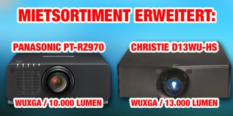 publitec erweitert Mietsortiment mit Laser-Phosphor-Projektoren von Christie und Panasonic