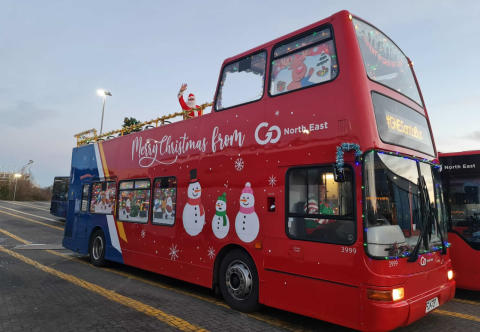 Go North East Santa bus spreads much-needed joy and laughter