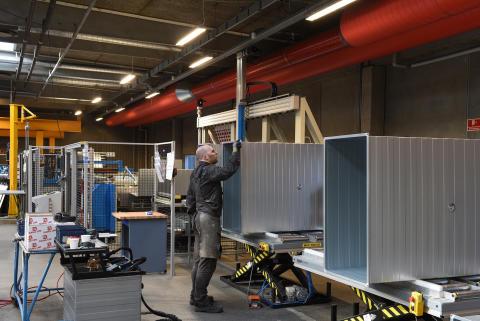 Produktion af rektangulær ventilationskanaler