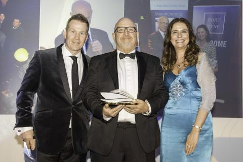 Two Fred. Olsen Cruise Lines' stalwarts receive coveted 'John Honeywell Award' at prestigious Wave Awards 2019