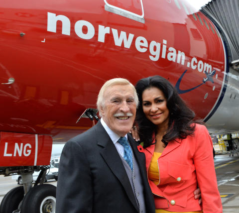 Sir Bruce Forsyth and Lady Wilnelia Forsyth launches the UK's only direct flights to Puerto Rico
