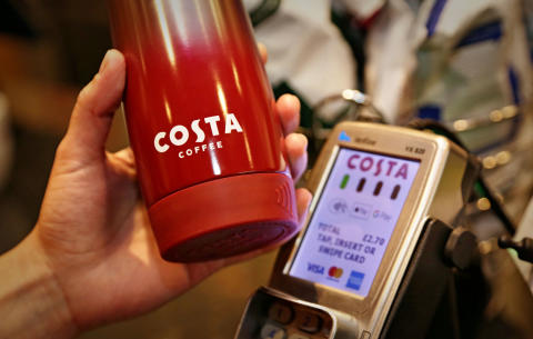 COSTA COFFEE AND BARCLAYCARD LAUNCH UK'S FIRST CONTACTLESS REUSABLE 'CLEVER CUP'