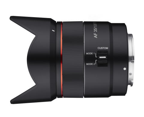 Samyang AF 35mm F1.8 FE Product Image 05 - Hood_Side