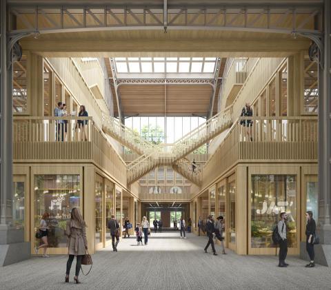 Gare Maritime, Brussels, adjacent hall