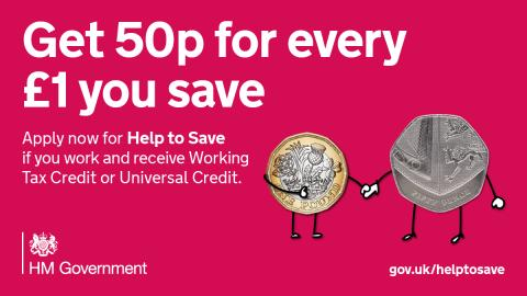 Join thousands of others with a Help to Save account and earn 50p for every £1 you save