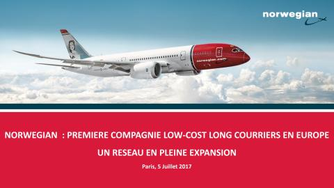 Développement des vols long-courriers de Norwegian en 2017