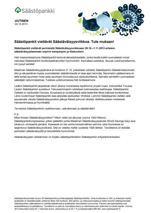 Säästäväisyysviikko 2013 pdf