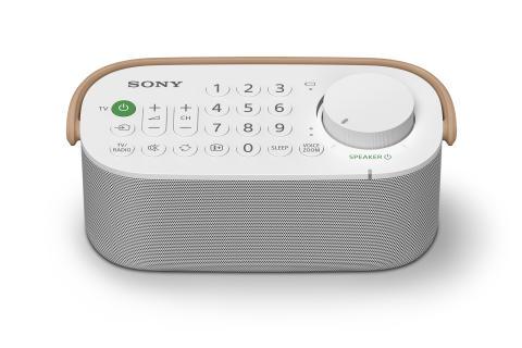 Ouça o seu televisor com maior nitidez graças à nova coluna prática sem fios para TV SRS-LSR200 da Sony