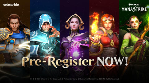 PRE-REGISTRATION NOW OPEN FOR NETMARBLE'S NEW  REAL-TIME STRATEGY MOBILE GAME MAGIC: MANASTRIKE