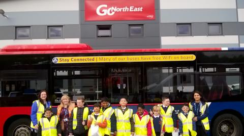 Autistic youngsters given VIP experience at Go North East
