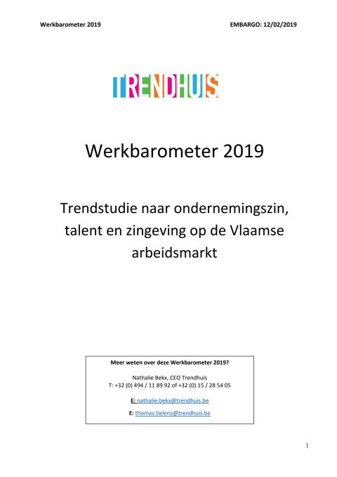 Werkbarometer 2019