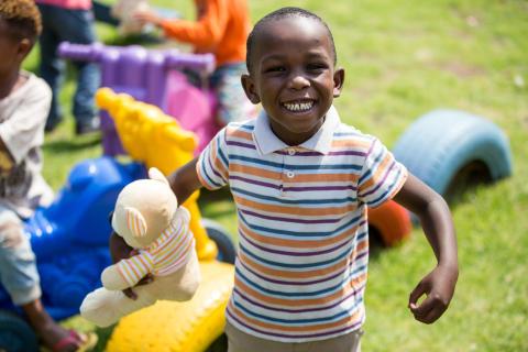 Vitality members give children the joy of a teddy bear