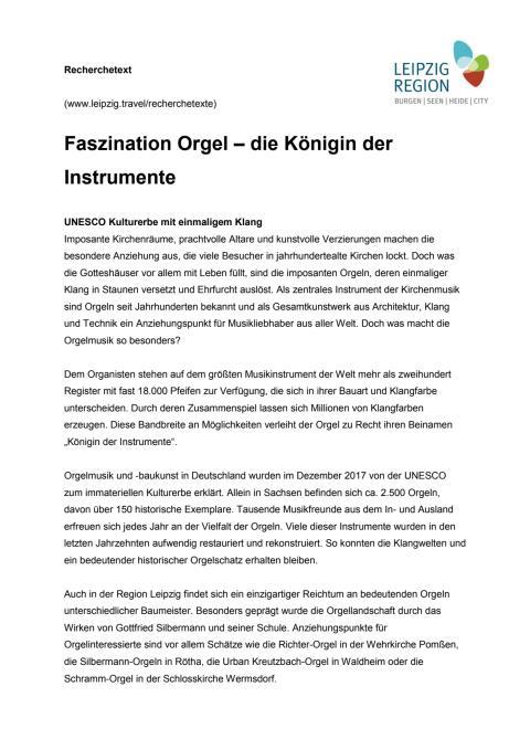 Faszination Orgel
