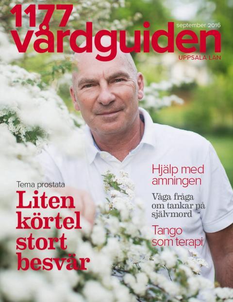 Omslag tidningen 1177 Vårdguiden Uppsala län september 2016