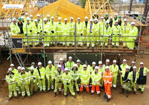 ISG and Kingspan celebrate delivery of the last lodge at Woburn Forest