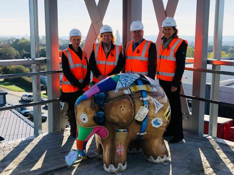 Ipswich-based Fred. Olsen companies celebrate 'Topping Out' of new multi-million-Pound extension to Fred. Olsen House headquarters