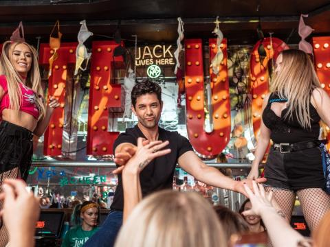 Inaugural Valentine's Day Man Auction at Coyote Ugly Saloon
