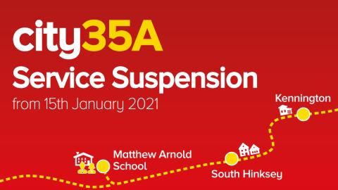 Suspension of the city35A School Bus Service