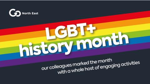 Go North East wraps up its first ever programme of events celebrating LGBT+ History Month
