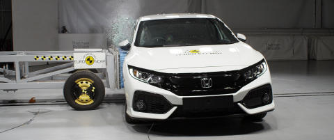 Honda Civic - side crash test July 2017