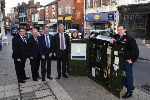 Terrific team work helps pave the way for high-speed broadband in centre of Whitchurch